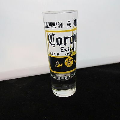 "Lifes a beer Corona Extra Cancun Mexico 4"" Shot Glass"