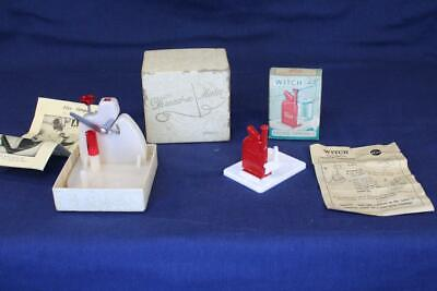 Vintage Pair Automatic Needle Threader Witch (DE) & Nelpin (USA) Thread-a-Matic
