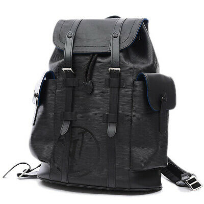 d5488da1e21 LOUIS VUITTON Epi Christopher PM LV Circle Backpack Noir M53302 Free  Shipping