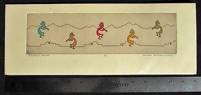 Melanie Brittain Signed Print Kokopelli Frieze 6/6 Unframed Dated 12-29-05