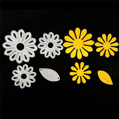 4pcs Petals Metal Cutting Dies Stencil for DIY Scrapbooking Album Paper CardsSC