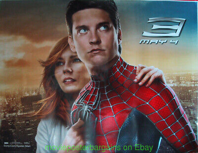 SPIDER-MAN 3 MOVIE POSTER Huge SIZE Ultra Rare 3x5 Foot BUS SHELTER Size N.MINT!