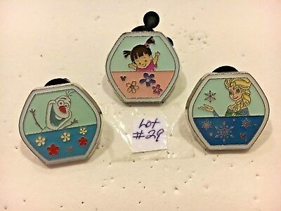 Ferris Wheel Cars (Frozen Olaf & Anna and Boo Only) 3 Disney Pins Pin Lot # 29
