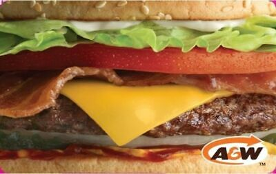 A&W CANADA RESTAURANT GIFT CARD cheese burger logo NO VALUE RECHARGEABLE
