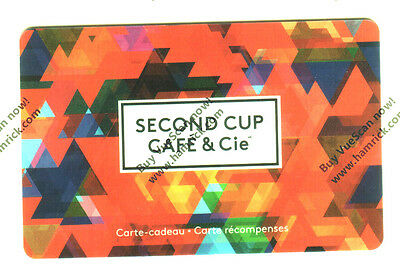 SECOND CUP COFFE SHOP COLLECTIBLE Gift Card ORANGE New No Value Bilingual