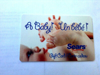 SEARS CANADA LTD COLLECTIBLE A BABY Gift Card New No Value
