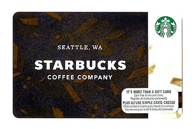 2017 Starbucks CANADA Version Seattle, WA Bilingual Gift Card 6138 RECHARGEABLE!