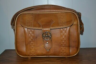 American Tourister Vintage 1975 Carry On Bag Brown Leather Travel Luggage NO KEY