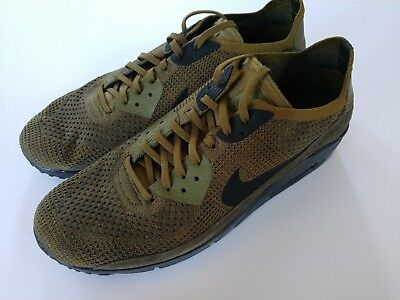 7b9df15f7fc Nike Men s Air Max 90 Ultra 2.0 Flyknit Olive Cargo Khaki 13 Shoes 875943- 302