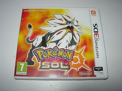 Nintendo 3DS / 2DS : Pokemon Sol (Sun) - Box ONLY - NO GAME!!!! European Variant