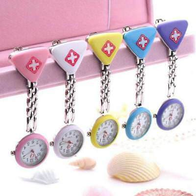 Nurse Doctor Pendant Pocket Quartz Cross Brooch Nurses Watch Fob Hanging Medical