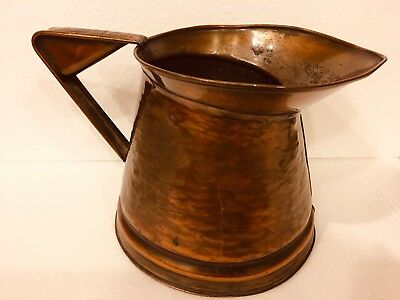 Craftsman Co 348 Hammered Copper Arts Crafts Mission Style Jug Pitcher Hand Made
