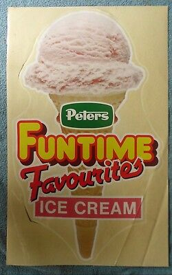 Peters Ice Cream Promotional Material  Window Sticker