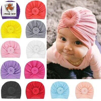 Headband Girl 15 color Infant Solid Cotton Turban Multi Colour Head Wear Baby
