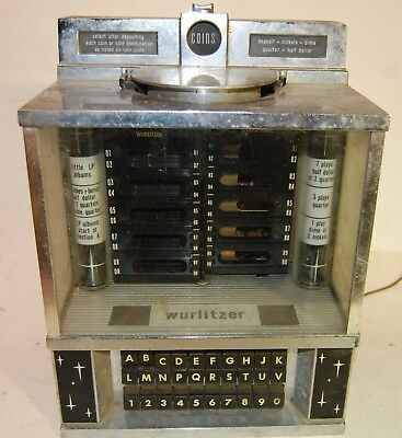 Wurlitzer Diner Wall Mount Table Top Jukebox, Restaurant Soda Shop