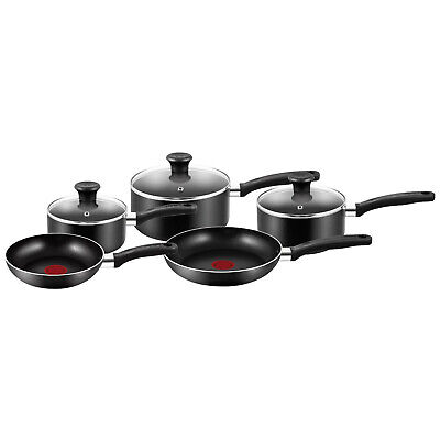 Tefal Essential 5pc Non Stick Coating Cookware Frying Pan Saucepan Frypans Set