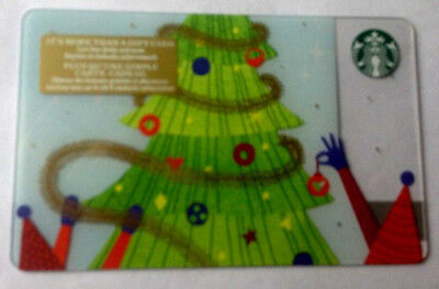 STARBUCKS 2018 Christmas Tree GIFT CARD **RECHARGEABLE BILINGUAL NO VALUE/0$