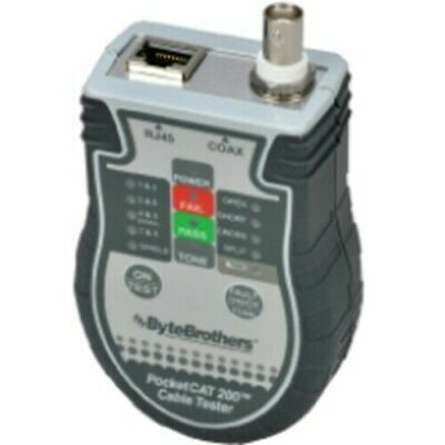 BYTE BROTHERS Cable Tester, RJ45/Cat  Pocket CAT CTX200P