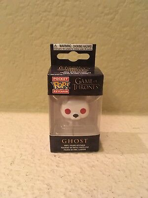 Funko Pocket Pop Keychain: Game of Thrones - Ghost Vinyl Figure Keychain In Hand