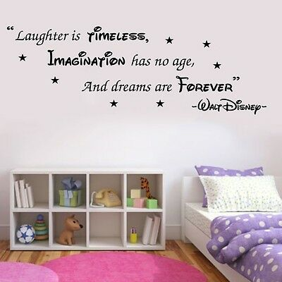 WALT DISNEY WALL STICKER QUOTE KIDS BOYS GIRLS HOME WALL ART DECAL X133