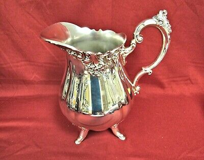 """LARGE BAROQUE BY WALLACE SILVERPLATE 9"""" Water Pitcher"""