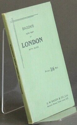Bacon's new map of London with guide / 1922 Travel