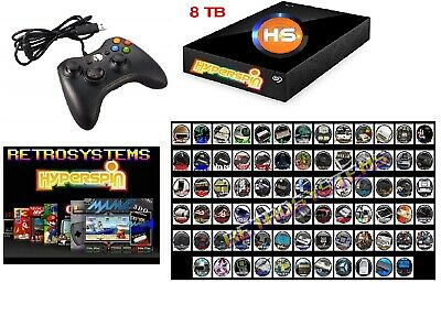 Joypad Xbox 360 Controller with 8TB Hyperspin Hard Disk EXTERNAL