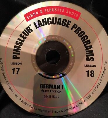Pimsleur GERMAN I, Level 1, Replacement Disc 9, Lessons 17 & 18