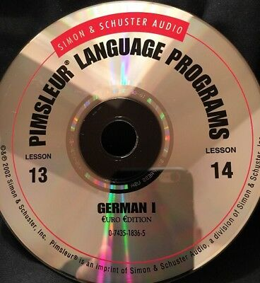 Pimsleur GERMAN I, Level 1, Replacement Disc 7, Lessons 13 and 14