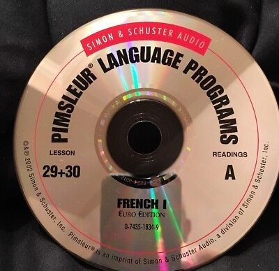Pimsleur FRENCH I, Level 1, Replacement Disc 15, Lessons 29, 30 & Readings A