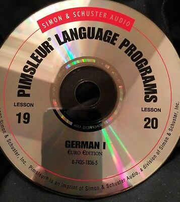 Pimsleur GERMAN I, Level 1, Replacement Disc 10, Lessons 19 & 20