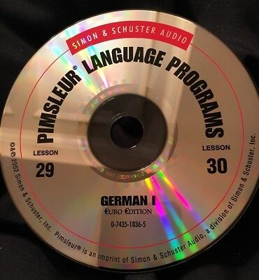 Pimsleur GERMAN I, Level 1, Replacement Disc 15, Lessons 29 & 30
