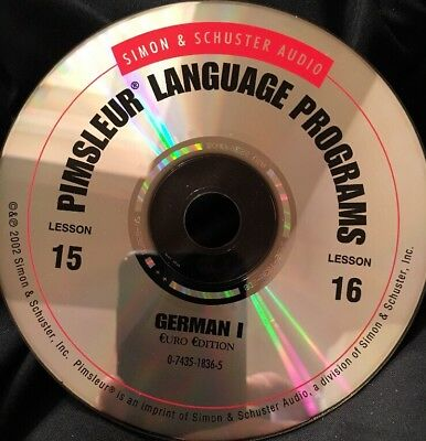 Pimsleur GERMAN I, Level 1, Replacement Disc 8, Lessons 15 & 16