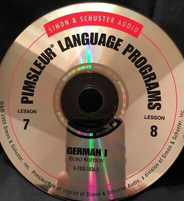 Pimsleur GERMAN I, Level 1, Replacement Disc 4, Lessons 7 and 8