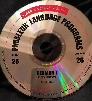 Pimsleur GERMAN I, Level 1, Replacement Disc 13, Lessons 25 & 26