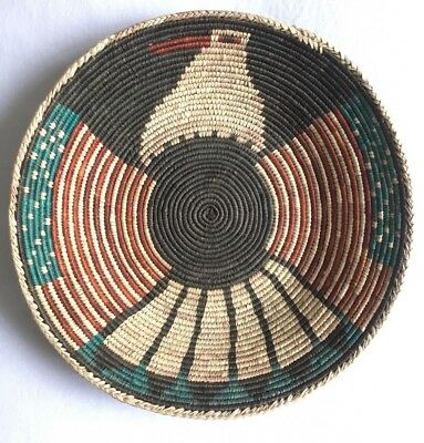 RARE VINTAGE Native American Navajo Stars and Stripes EAGLE/THUNDERBIRD  Basket