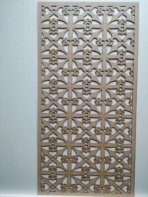 Radiator Cabinet Decorative Screening Perforated 3mm & 6mm thick MDF lasercutKR1