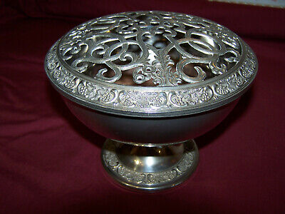 "Vintage silver plated rose bowl by Grenadier England - approx 8""(dia) x 6""(h)"