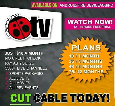 Iptv subscription 1, 3 , 6 or 12 months