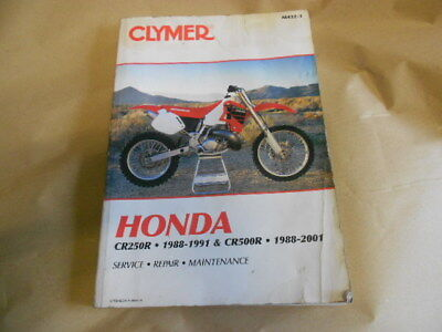 Honda CR500R,CR480R,CR450R,CR250R CLYMER REPAIR MANUAL Fits
