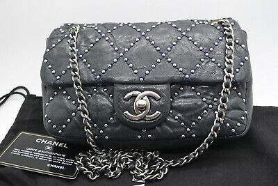 dca8c0b3ad57e5 Chanel Paris-Dallas Flap Bag Quilted Studded Distressed Calfskin Small