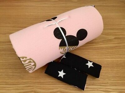 Pudra Black Minnie Mouse Disney Seat Liner Stroller Mattress 100% Cotton