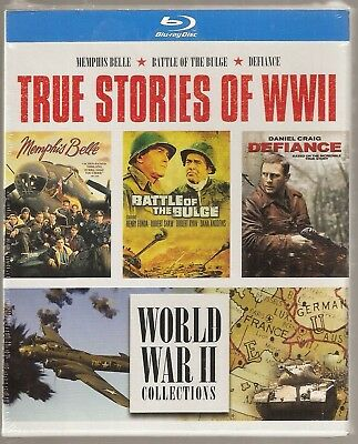 World War II Collections Memphis Belle / Battle Of The Bulge / Defiance Blu-ray