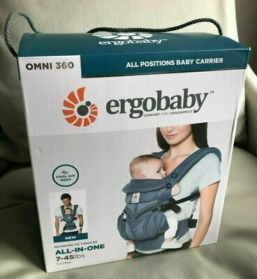 Ergobaby OMNI 360 Cool Air Mesh Newborn Infant Toddler Baby Carrier OXFORD BLUE
