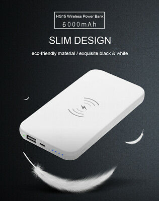 New 10000mAh Qi Wireless Power Bank B Portable Charger For Samsung iPhone 8/X