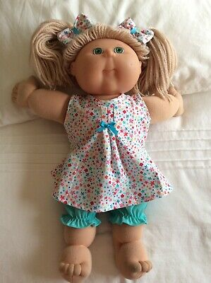 """DOLLS CLOTHES TO FIT 16"""" CABBAGE PATCH DOLL -  3Piece Set Mint /Small Flowers"""