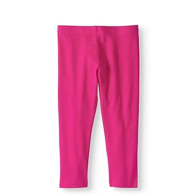 Wonder Nation Girls Tough Cotton Capri Leggings Size Medium 7-8 Pink