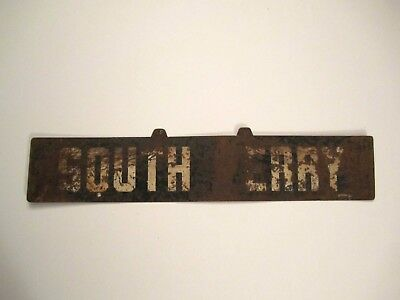 New York City Transit Metal Sign South Ferry Irt Nyc Subway