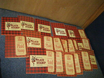 Set of 22 MacDonald Plaid Stamp Saver Books Complete