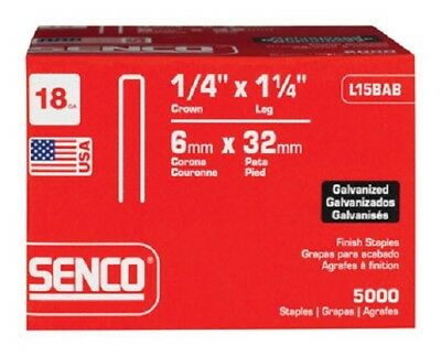 "Senco L15BAB Galvanized Staples, 1-1/4""X 1/4"", 5000 pk"